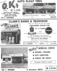 Clark's Radio and TV and Kelley's Mobilgas